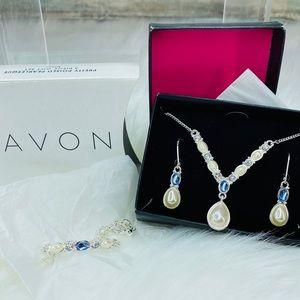 PRETTY POISED PEARLESQUE 3 PIECE GIFT SET - Blue